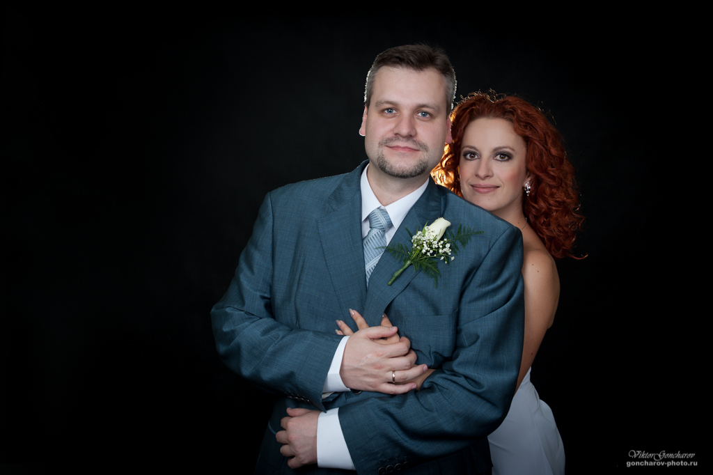Свадебный фотосет в студии свадебного фотографа